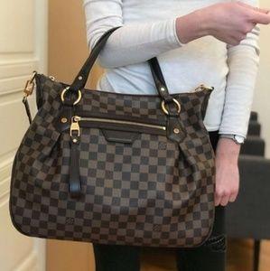 Louis Vuitton Evora MM damier ebene bag lv purse